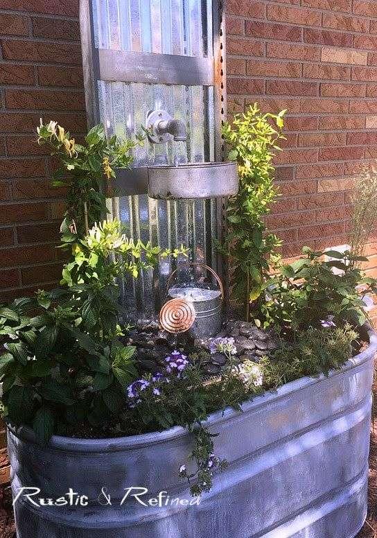 Fontaine d'eau style rustique