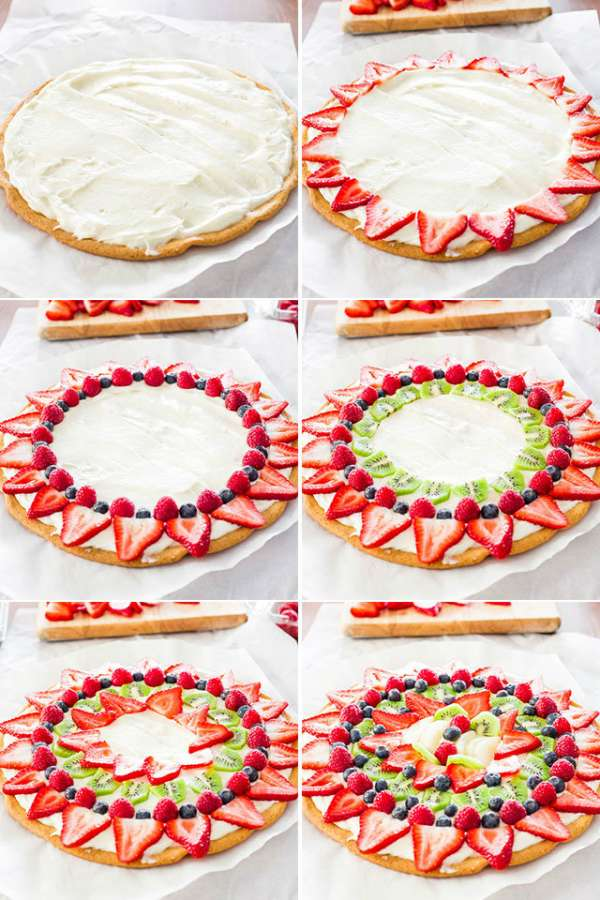 Une tarte pizza aux fruits